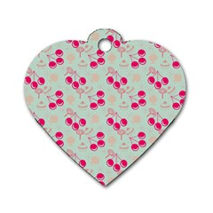 Bubblegum Cherry Dog Tag Heart (two Sides)