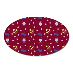 Cakes And Sundaes Red Oval Magnet