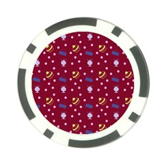 Cakes And Sundaes Red Poker Chip Card Guard (10 Pack)