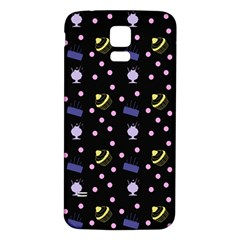 Cakes And Sundaes Black Samsung Galaxy S5 Back Case (white)