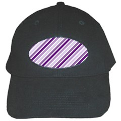 Violet Stripes Black Cap
