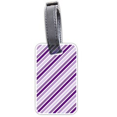 Violet Stripes Luggage Tags (one Side)