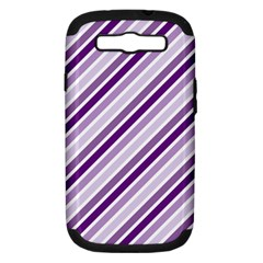 Violet Stripes Samsung Galaxy S Iii Hardshell Case (pc+silicone)