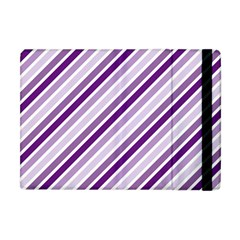 Violet Stripes Apple Ipad Mini Flip Case