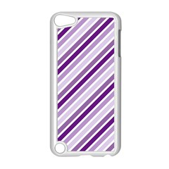 Violet Stripes Apple Ipod Touch 5 Case (white)