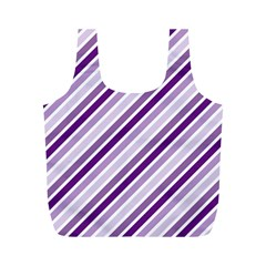 Violet Stripes Full Print Recycle Bags (m)