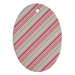 Candy Diagonal Lines Ornament (oval)