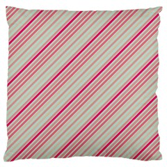 Candy Diagonal Lines Large Flano Cushion Case (two Sides)