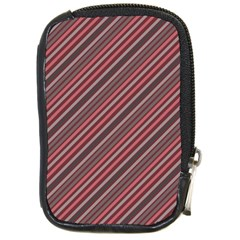 Brownish Diagonal Lines Compact Camera Cases