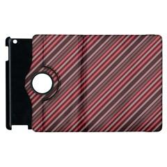 Brownish Diagonal Lines Apple Ipad 2 Flip 360 Case