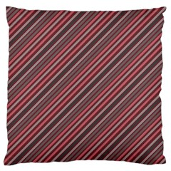 Brownish Diagonal Lines Standard Flano Cushion Case (two Sides)
