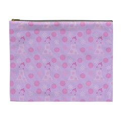 Lilac Dress Cosmetic Bag (xl)