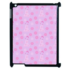 Lilac Dress Apple Ipad 2 Case (black)