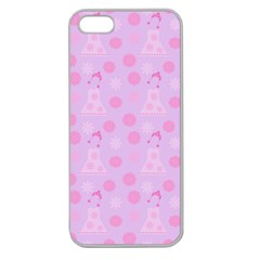 Lilac Dress Apple Seamless Iphone 5 Case (clear)