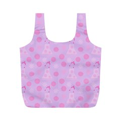 Lilac Dress Full Print Recycle Bags (m)