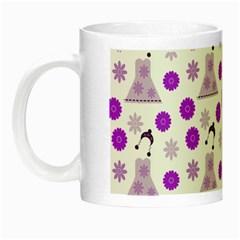 Lilac Dress On White Night Luminous Mugs