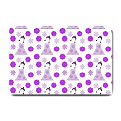 Lilac Dress On White Small Doormat
