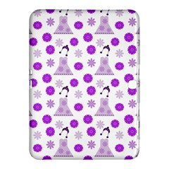 Lilac Dress On White Samsung Galaxy Tab 4 (10 1 ) Hardshell Case