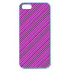 Pink Violet Diagonal Lines Apple Seamless Iphone 5 Case (color)