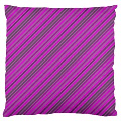 Pink Violet Diagonal Lines Standard Flano Cushion Case (two Sides)