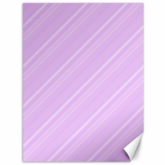 Lilac Diagonal Lines Canvas 36  X 48