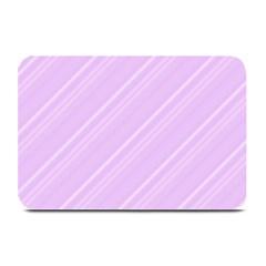 Lilac Diagonal Lines Plate Mats