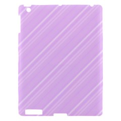 Lilac Diagonal Lines Apple Ipad 3/4 Hardshell Case by snowwhitegirl