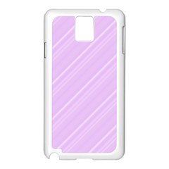 Lilac Diagonal Lines Samsung Galaxy Note 3 N9005 Case (white)