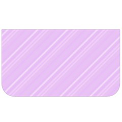 Lilac Diagonal Lines Lunch Bag by snowwhitegirl