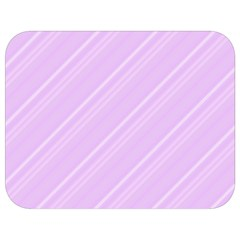 Lilac Diagonal Lines Full Print Lunch Bag by snowwhitegirl