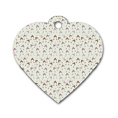 Little Winter Hats Blue Dog Tag Heart (one Side)
