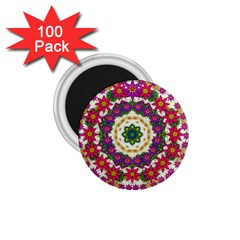 Fauna Fantasy Bohemian Midsummer Flower Style 1 75  Magnets (100 Pack)