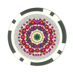 Fauna Fantasy Bohemian Midsummer Flower Style Poker Chip Card Guard