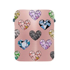 Gem Hearts And Rose Gold Apple Ipad 2/3/4 Protective Soft Cases