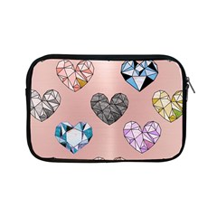 Gem Hearts And Rose Gold Apple Ipad Mini Zipper Cases by 8fugoso