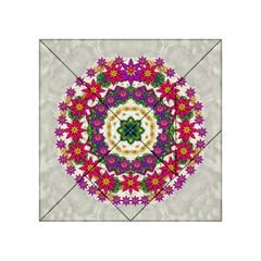 Fauna Fantasy Bohemian Midsummer Flower Style Acrylic Tangram Puzzle (4  X 4 )