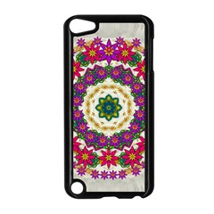Fauna Fantasy Bohemian Midsummer Flower Style Apple Ipod Touch 5 Case (black)