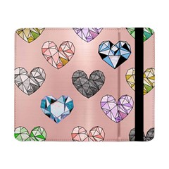 Gem Hearts And Rose Gold Samsung Galaxy Tab Pro 8 4  Flip Case