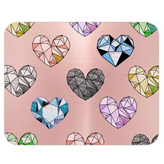 Gem Hearts And Rose Gold Double Sided Flano Blanket (medium)