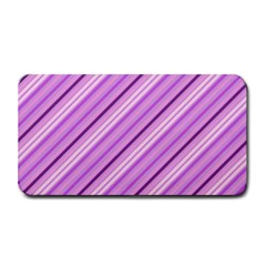 Violet Diagonal Lines Medium Bar Mats