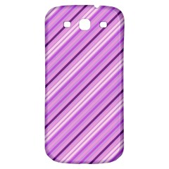 Violet Diagonal Lines Samsung Galaxy S3 S Iii Classic Hardshell Back Case