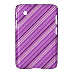 Violet Diagonal Lines Samsung Galaxy Tab 2 (7 ) P3100 Hardshell Case