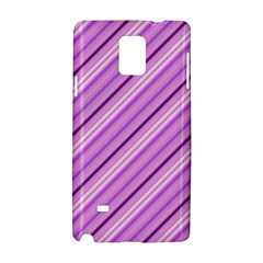 Violet Diagonal Lines Samsung Galaxy Note 4 Hardshell Case