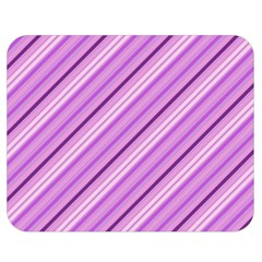 Violet Diagonal Lines Double Sided Flano Blanket (medium)