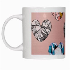 Gem Hearts And Rose Gold White Mugs