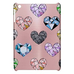 Gem Hearts And Rose Gold Apple Ipad Mini Hardshell Case by 8fugoso