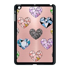 Gem Hearts And Rose Gold Apple Ipad Mini Case (black) by 8fugoso