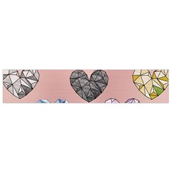 Gem Hearts And Rose Gold Small Flano Scarf