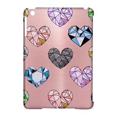 Gem Hearts And Rose Gold Apple Ipad Mini Hardshell Case (compatible With Smart Cover) by 8fugoso