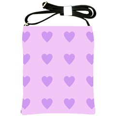 Violet Heart Shoulder Sling Bags